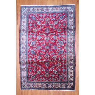 Persian Hand-knotted Tabriz Red/ Ivory Wool Rug (10' x 15'3)
