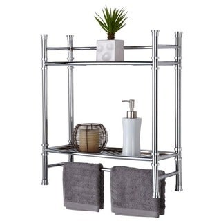 Chrome Wall Mount or Countertop Shelf