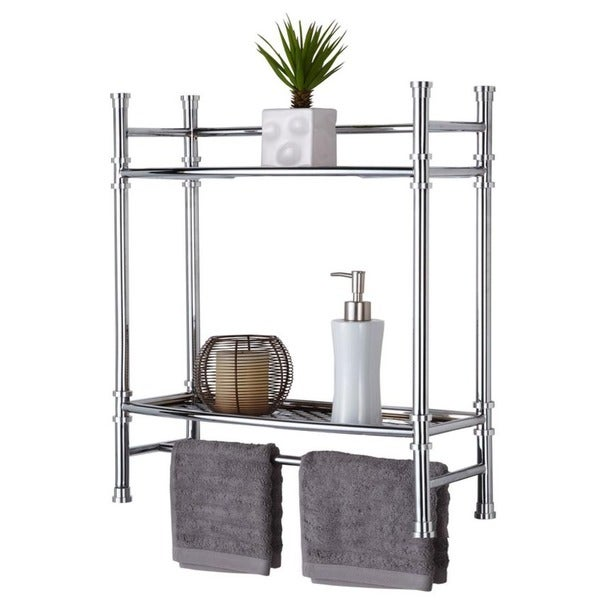 Chrome Wall Mount or Countertop Shelf - 15297522 - Overstock.com ...