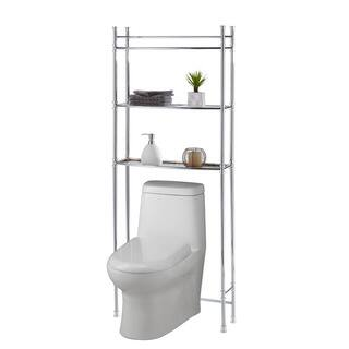 Chrome Bathroom Shelf Space Saver