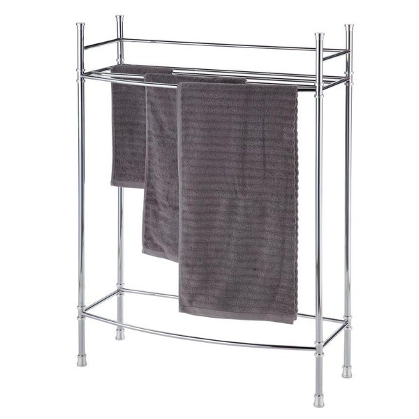 Chrome Three Rack Towel Stand