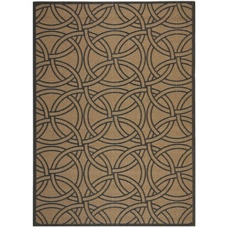 Martha Stewart Links Gold/ Black Indoor/ Outdoor Rug (8'x 11'2)