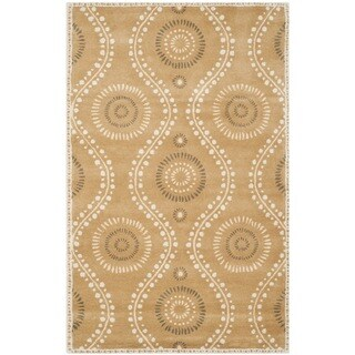 Martha Stewart Ogee Dot Curry Wool Rug (4'x 6')