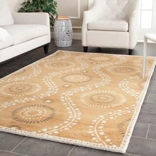Martha Stewart Ogee Dot Curry Wool Rug (4'x 6')