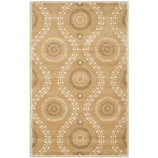 Martha Stewart Ogee Dot Curry Wool Rug (8'x 10')
