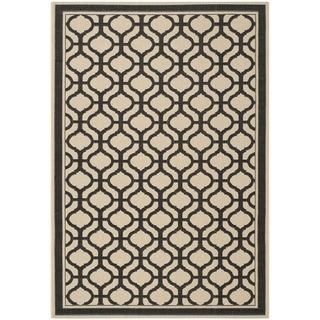 Martha Stewart Tangier Cream/ Black Indoor/ Outdoor Rug (8'x 11'2)