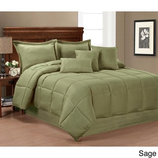 Solid Color 7-piece Comforter Set