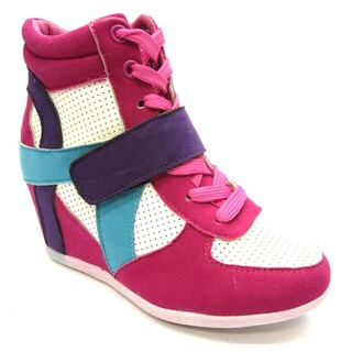Blue Children's K-RYKER 2 Fuchsia Sneaker Wedge