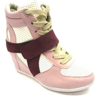 Blue Children's K-RYKER 2 Pink Wedged Sneaker