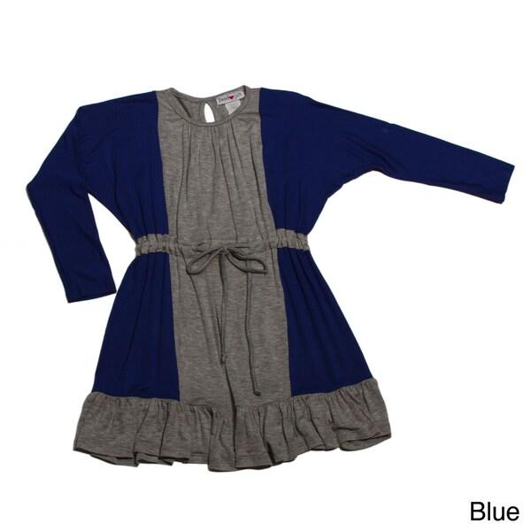 Sweetheart Jane Girls Long Sleeve 2-toned Dress