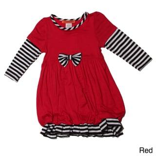 Funkyberry Girls Long Sleeve Striped Bubble Dress