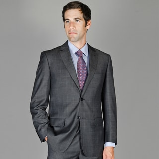 Bertolini Teakweave Windowpane 2-button Wool and Silk Blend Suit