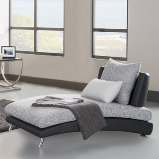 TRIBECCA HOME 'Khloe' Modern Monochromatic Chaise Lounge