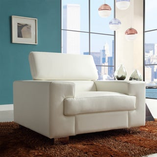 Scarlett White Bonded Leather Chair