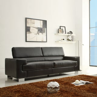 Scarlett Black Bonded Leather Sofa