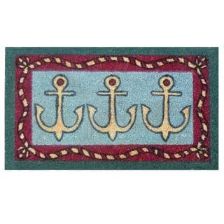 Anchors Away-Coir with Vinyl Backing Doormat (17 x 29)