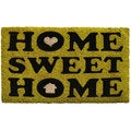 Home Sweet Home Green Coir/ Vinyl Doormat (1'5 x 2'5)