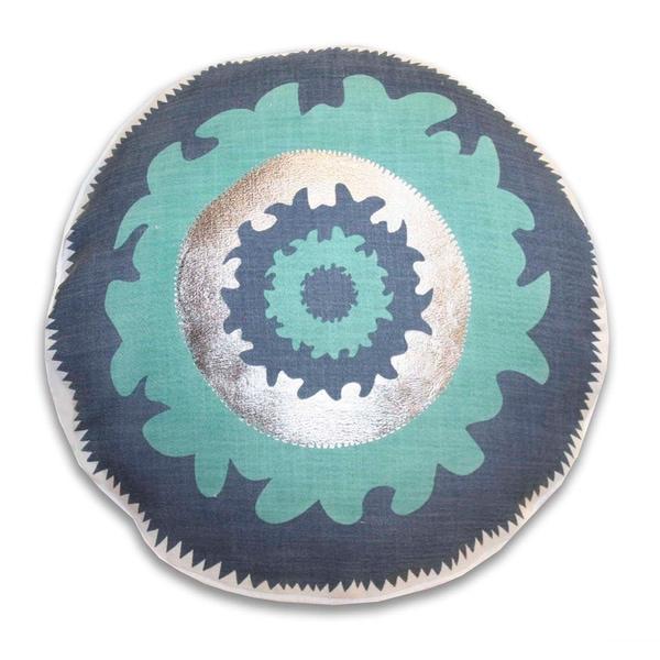 18-inch Round Suzani Decorative Throw Pillow