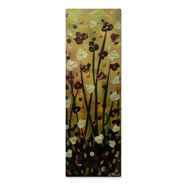 Danlye Jones 'Burgundy Flowers' Wall Decor