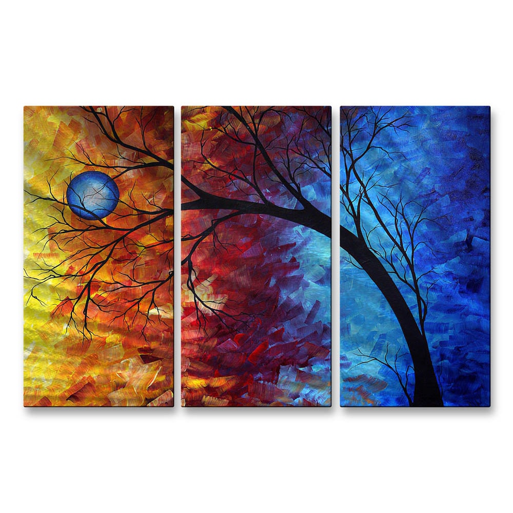 Megan Duncanson Jewel Tone Metal Wall Sculpture (LargeSubject AbstractOuter dimensions 23.5 inches high x 38 inches wide x 1 inches deep )