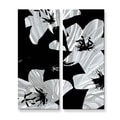 Ruth Palmer 'Black Lilies' Metal Wall Hanging