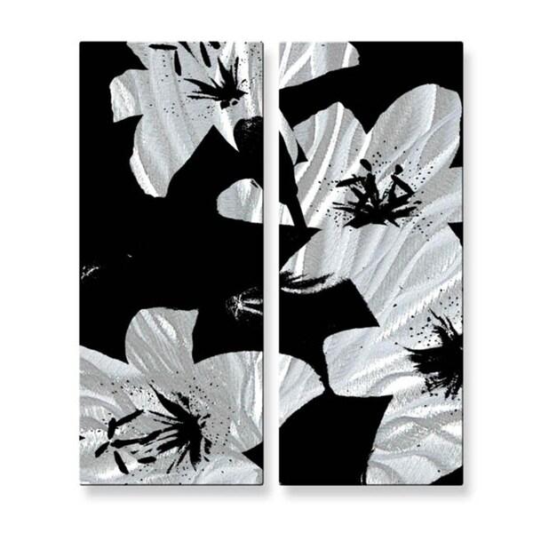 Ruth Palmer 'Black Lilies' Metal Wall Hanging