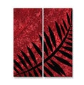 Ruth Palmer 'Darker Fern Better Match' Metal Wall Sculpture