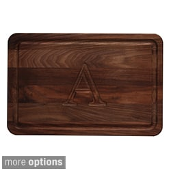 Monogrammed Walnut Cutting Board