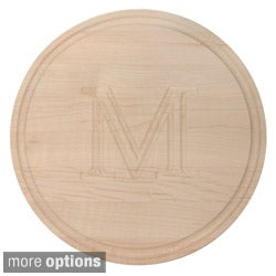Monogrammed Round Maple Cutting Board