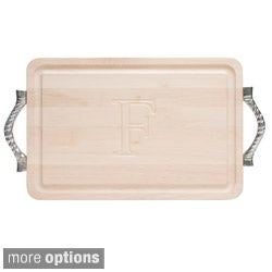 Monogrammed Maple Cutting Board with Rope Handles