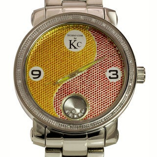 Techno Com by KC Men's Yin Yang Diamond-accented Watch