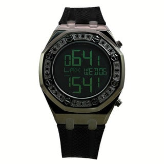 Techno Com by KC Men's Classic Black Diamond Digital Watch