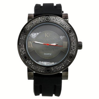 Techno Com KC Men's Black Diamond Watch