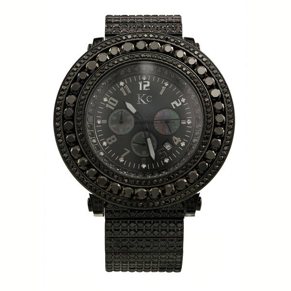 Techno Com Men's 'Fully Iced Out XL' Diamond-accented Watch