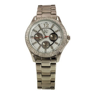 Techno Com By KC Men's White Diamond Watch