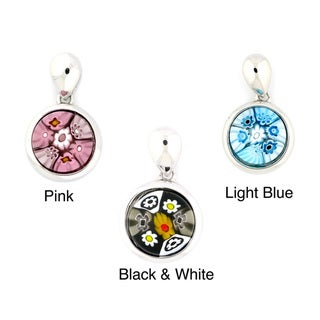 Plutus Sterling Silver Millefiori Circle Necklace