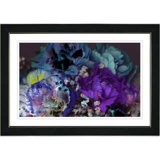 Studio Works Modern 'Scented Bloom - Blue' Framed Print