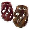 Mango Wood Spiral Vase (Thailand)