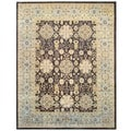 Afghan Hand-knotted Vegetable Dye Brown/ Gold Wool Rug (11&#39;9 x 15&#39;)