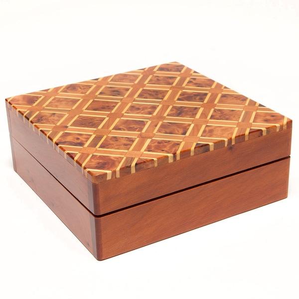 Inlaid Lattice Thuya Wood Box (Morocco)