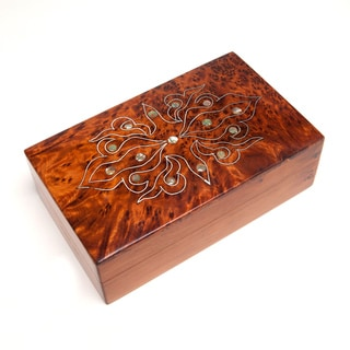 Mother-of-Pearl Inlaid Thuya Box (Morocco)