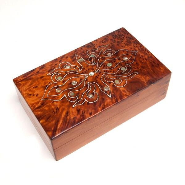 Mother-of-Pearl Inlaid Thuya Box (Morocco)
