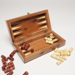 Thuya Wood Chess and Backgammon Game Set (Morocco)