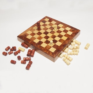 Thuya Wood Large Chess and Backgammon Game Set (Morocco)