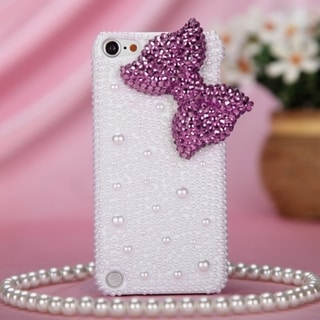 MYBAT Hot Pink Bow Diamond Case for Apple iPod Touch Generation 5