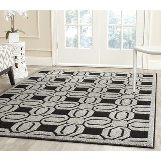 Safavieh York Grey/ Black Rug (5'3 x 7'7)