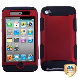 INSTEN Red/ Black TUFF iPod Case Cover for Apple iPod Touch Generation 4