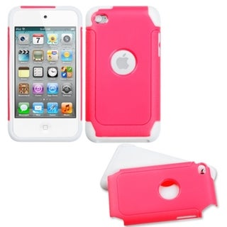 MYBAT Hot Pink/ White Case for Apple iPod Touch Generation 4