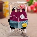 MYBAT Fat Cat Diamond Case for Apple iPod Touch Generation 4