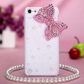 MYBAT Pink Bow Pearl Diamond Case for Apple iPod Touch Generation 5